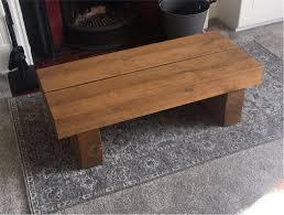 solid oak railway sleepers coffee table