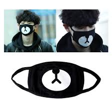Cute Mouth Mask Designs Cotton Masks Aieve 6 Pack Unisex Mouth Masks Black Cute
