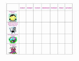 Printable Behavior Charts Of Daily Printable Behavior Charts