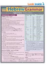 Grammar Rules Chart Helpful Guide To Hebrew Grammar Rules For Beginners