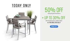 off on select patio furniture plus save