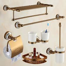 Antique Brass Brushed Bath Hardware Set Aluminim Bathroom Hardware