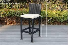 outdoor wicker bar dining set