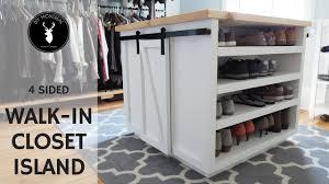 walk in closet island diy furniture