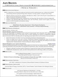Physical Therapy Resume New Physical Therapy Resume Example Physical Therapist Resumes