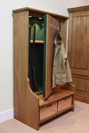 Coat Rack With Bench Seat hall tree gun cabinet and 100 other places to store and conceal your 14