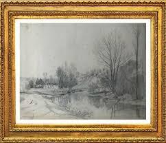 ALEXIS EUGENE GUIGNE (1839-1920) SUPERBE PAYSAGE DE RIVIERE EPOQUE ...