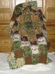 107 best Soft, comfy, cozy, handmade quilts images on Pinterest ... & hunter outdoorsman blanket rag quilt cotton flannel camo Handmade deer  moose big game elk brown camouflage antler Woolrich Ready to Ship Adamdwight.com
