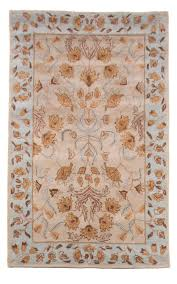 beautiful royal traditional wool area rug 5x8 hand tufted beige blue gold brown