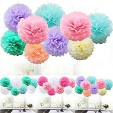 Diy Flower Balls Tissue Paper Details About 9pcs Diy Tissue Paper Poms Flower Ball Fluffy Christmas Wedding Party Home Decor
