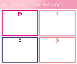 Free Printable Note Cards Free Printable Summer Notecards By For Chic Sake Free Printables