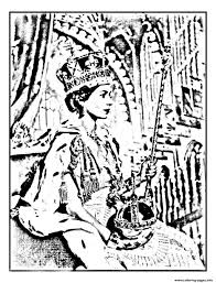 elisabeth ii coronation june 195 coloring pages printable