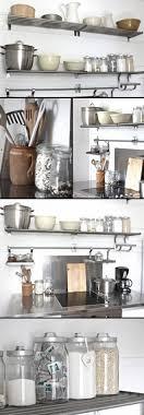 Stainless Shelves Kitchen Best 25 Metal Kitchen Shelves Ideas On Pinterest Industrial