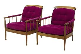 pair of 1960 s swedish walnut ope mobler lounge chairs