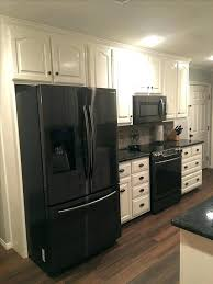 kitchens with white cabinets and black appliances. White Kitchen Black Appliances Stylish Cabinets Cream Colored In Addition To 19 Kitchens With And B