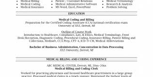 medical billing and coding resume objectives medical billing and coding resume sample
