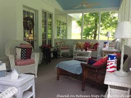 sunroom wicker furniture. Beautiful Sunroom Screened Porch With Haint Blue Ceiling U0026 White Wicker 6 Throughout Sunroom Furniture