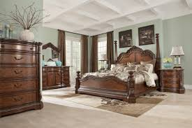 Tall Bedroom Furniture Poster Bedroom Set With Tall Headboard Posts In Brown