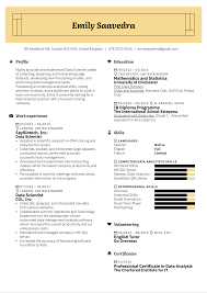 We have all the cv tips and cv examples you need and a free online cv follow our guide on how to write a cv and create the best cv possible for your experience, skillset a cv (curriculum vitae) is latin for 'course of life', which in essence is a document that provides an. Data Scientist Resume Example Kickresume