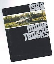 dodge raider 1989 dodge trucks brochure dakota ram van pickup ramcharger raider