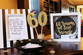 black white and gold 60th birthday party decorating and game ideas the child at heart