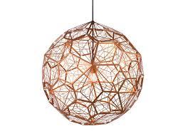 copper hanging pendant light copper