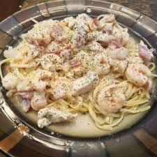 Chicken and Shrimp Carbonara Recipe ...