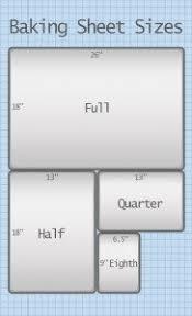 Sheet Measurement Chart Commercial Baking Sheets Size Chart