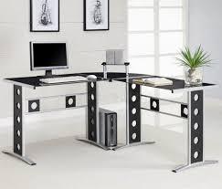 minimalist cool home office. Cool Modern Corner Office Desk Home Minimalist Black And White N
