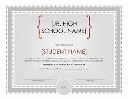 diploma word template high school certificate template jr high school diploma certificate