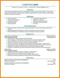 10 Human Resources Manager Resume Offecial Letter