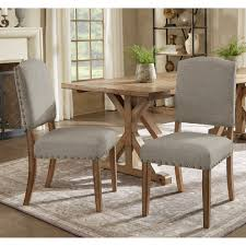 benchwright premium nailhead upholstered dining chairs set of 2 by inspire q artisan on today overstock 9973713