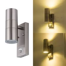Stainless Steel Up Down Wall Light Us 26 04 38 Off Outdoor Ip65 Waterproof Up Down Led Wall Light Ac 90 260v Stainless Steel Cylinder Modern Style Dual Head E27 Wall Lamp In Led
