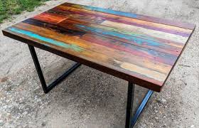 pallet furniture table. Recent Diy Pipe Legs Pallet Dining Furniture Wood Table     