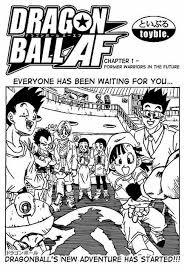 It is an unofficial continuation of the dragon ball manga and anime that takes place after the events of dragon ball gt. Dragon Ball Af Chapter 1 Former Warriors In The Future Dragonballz Amino