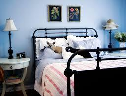 cozy blue black bedroom bedroom. Black Bed Frame Bedroom Traditional With Blue Walls Cozy Bedroom. Image By: Mandy Brown E