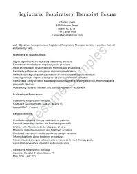 Registered Respiratory Therapist Resume Cover Letter Sample
