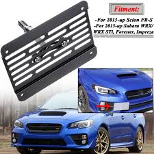 Subaru Blue Coolant Light New Front Bumper Tow Hook License Plate Frame Holder Relocator Mounting Bracket For Subaru Wrx Sti 2015 Up Scion Fr S 2013 Up