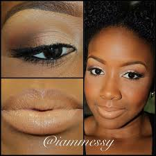 iammessy natural makeup for dark skin