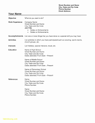 List Of Hobbies For Resume Awesome Pdf Resume Template Lovely Job