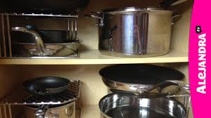 How to Organize Pots, Pans & Lids in the Kitchen - YouTube