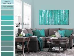 gray green teal wall art canvas