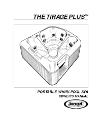 tirage plus portable whirlpool spa manuals