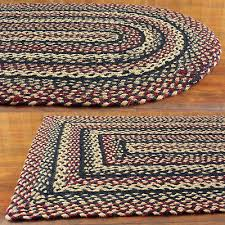 primitive braided area rugs country oval rectangle 20x30 up to 8x10 by ihf