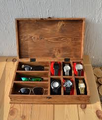 watch box rustic men s watch box for 6 watches rustic sunglasses box watch case watch box for men watch holder