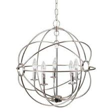 shooting star 5 light nickel plated mini chandelier yosemite home decor