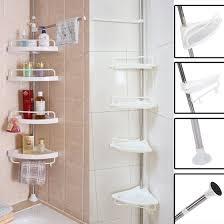 Telescopic Shower Corner Shelves 100Tier Bathroom Corner ShelfAdjustable Telescopic Shower Shelf 6