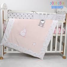 velvet baby crib bedding comforter with rabit embroidery cotton in duvet for idea 11