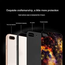 colored painting starry pattern detachable pc 0 8mm tempered glass tpu back cover case for iphone x