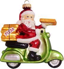 Krebs Glas Lauscha Christbaumschmuck Pizza Weihnachtsmann Auf Vespa 1 Tlg Mundgeblasen Online Kaufen Otto